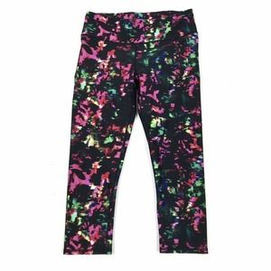 Fabletics Multicolor Mid Rise Crop Leggings Sz M